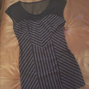 Striped, Mesh detail Forever 21 Dress I LOVE THIS!